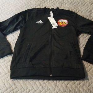 Adidas track jacket black LARGE Cecil Soccer